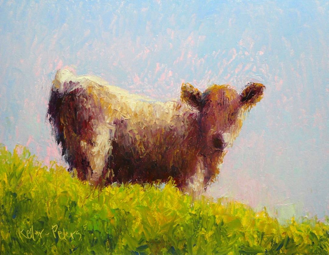 Oil painting of Scottish Highland calf