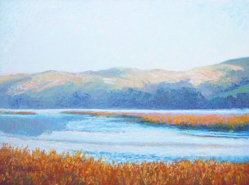 oil painting of Tomales Bay