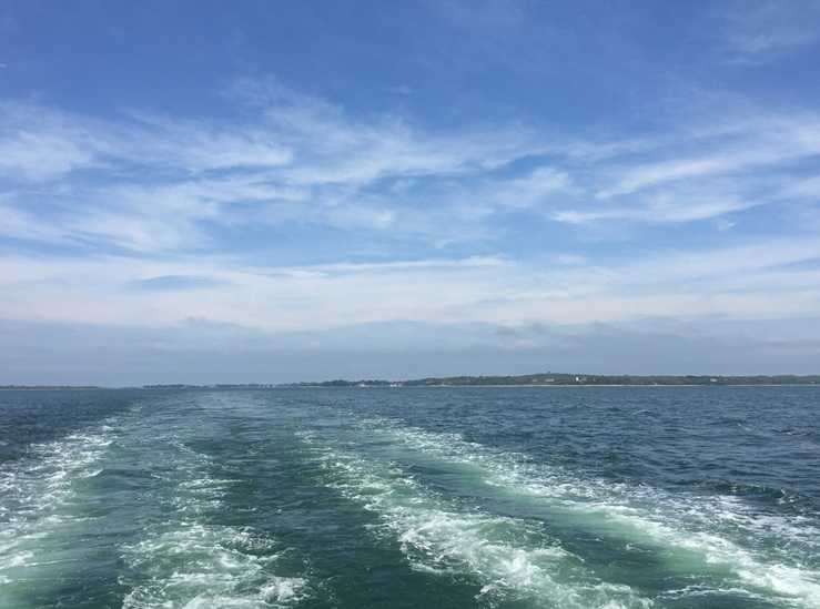 Water - wake from the ferry, Woods Hole, MA
